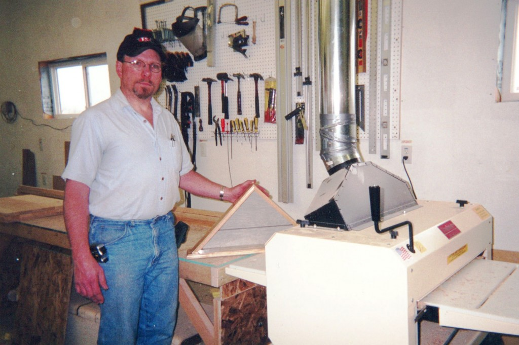 Among many other fine woodworking products, Tim Ziegler makes commemorative American Flag display boxes for the American Legion.