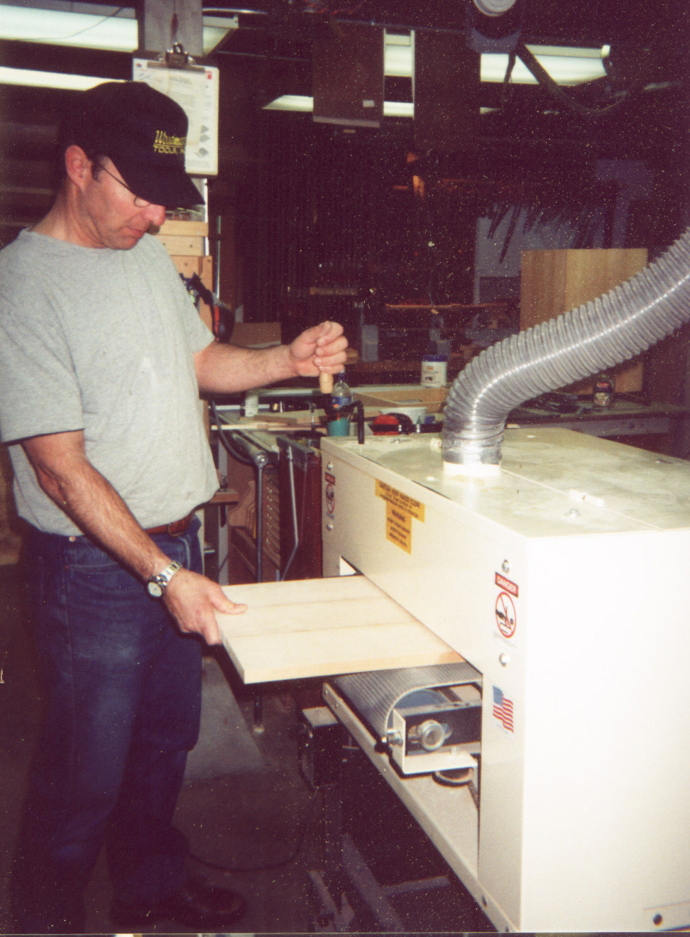 Bruce Bell credits his Woodmaster Drum Sander with boosting his production speed from 1 planter box a day to 10 or 12. At $250 apiece and up, an increase like that puts some serious money in the bank.