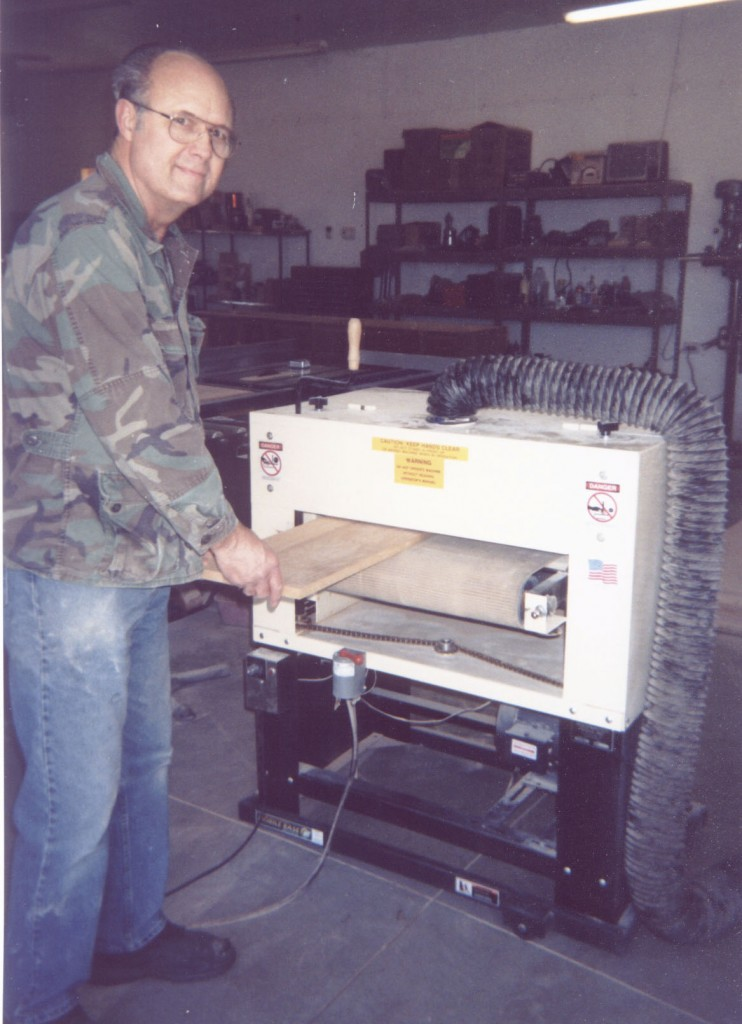"Benton Rosenberry has tried many sanding machines and speaks from hands-on experience. ""Keeping glue joints even with a hand sander is hard. It's easy with my Woodmaster."""