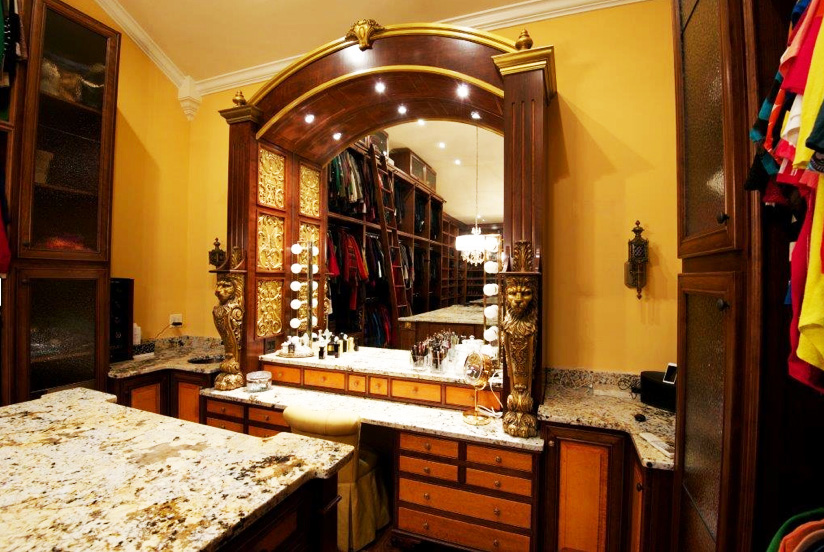 "Kurt Zolman, Woodmaster Owner, recently won Honorable Mention in a prestigious national cabinetmaking design competition. Here's the centerpiece of his entry, ""Celebrity Closet."""