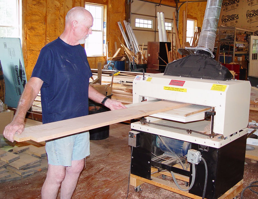 Charles gets some serious use out of his  Woodmaster Molder/Planer, shown here. He has everything he needs to turn roughcut lumber into finished trim and molding. And that's exactly what he did.