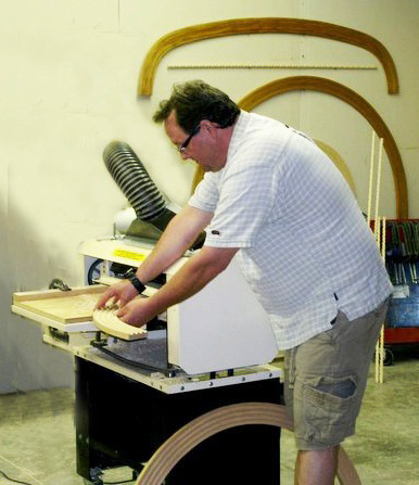 Making Curved Molding with the Woodmaster 718 at The Curved Molding Shop