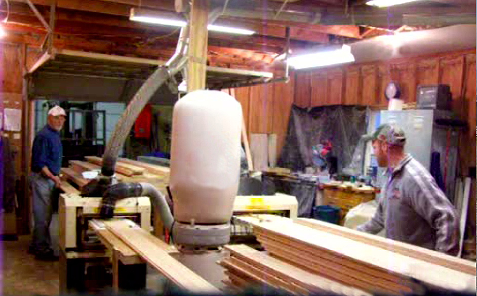 Larry (left) and Chris Perkins run 3 Star Molding in New Philadelphia, Ohio. Three years in, they've got plenty of work supplying molding they make on their two Woodmasters to a nearby manufacturer who sells to national retail chain stores.