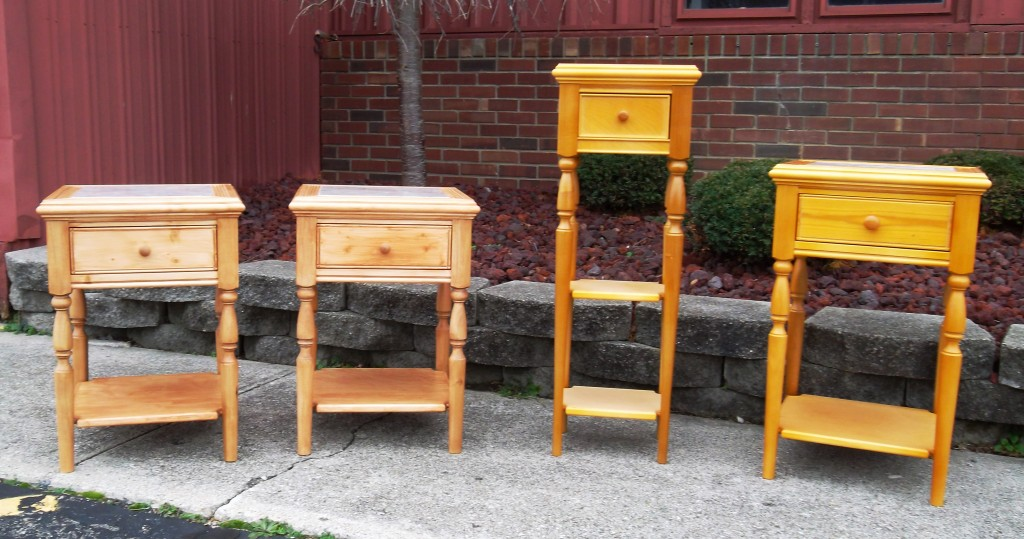 """What Elizabeth calls her """"little tables"""" are already popular. She says these are """"production items"""" -- she makes one after another in the same patterns."""