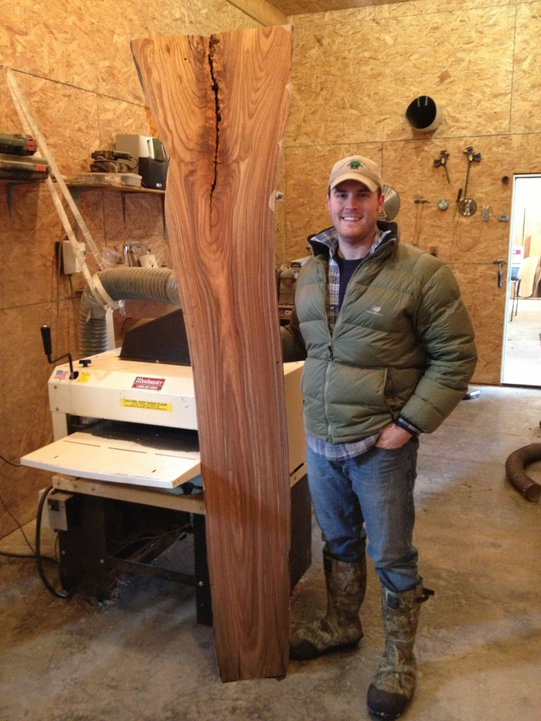"Many people look at gnarled trees and think ""firewood."" Jared Coldwell looks and thinks dollar signs. He turns low grade trees into high dollar specialty wood slabs."