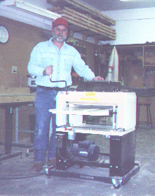 "Walter Ostrander says, ""I wanted an American machine, something heavy duty. Foreign machines are chintzy with a lot of plastic. The Woodmaster is good and solid."""