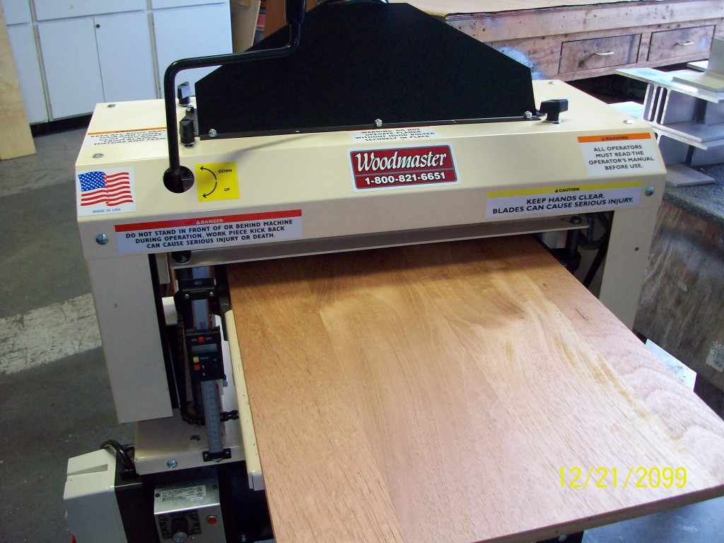 """As you can see, Charles isn't kiddin' about the smooth finish his 725 Woodmaster Molder/Planer creates with the Spiral Cutterhead leaves. Some say, """"Smooth as silk in a single pass."""""""