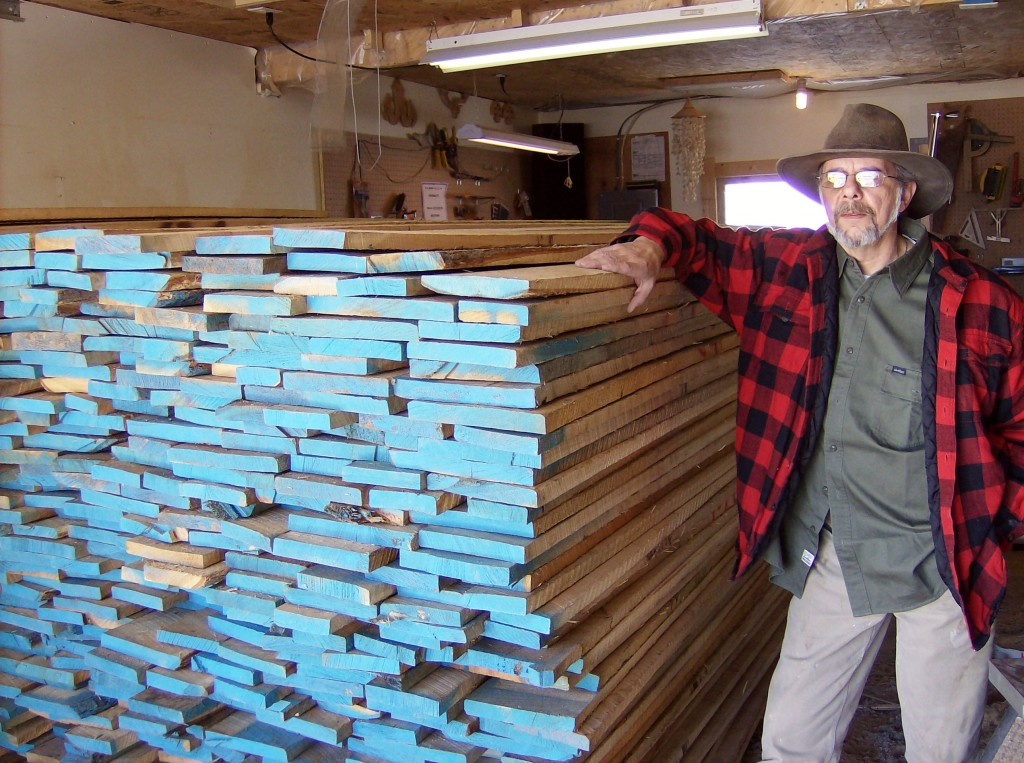 Got Wood? Jim and wife, Lynn, bought kiln-dried oak by the truckload. Turns out oak cost less than pine in their area.
