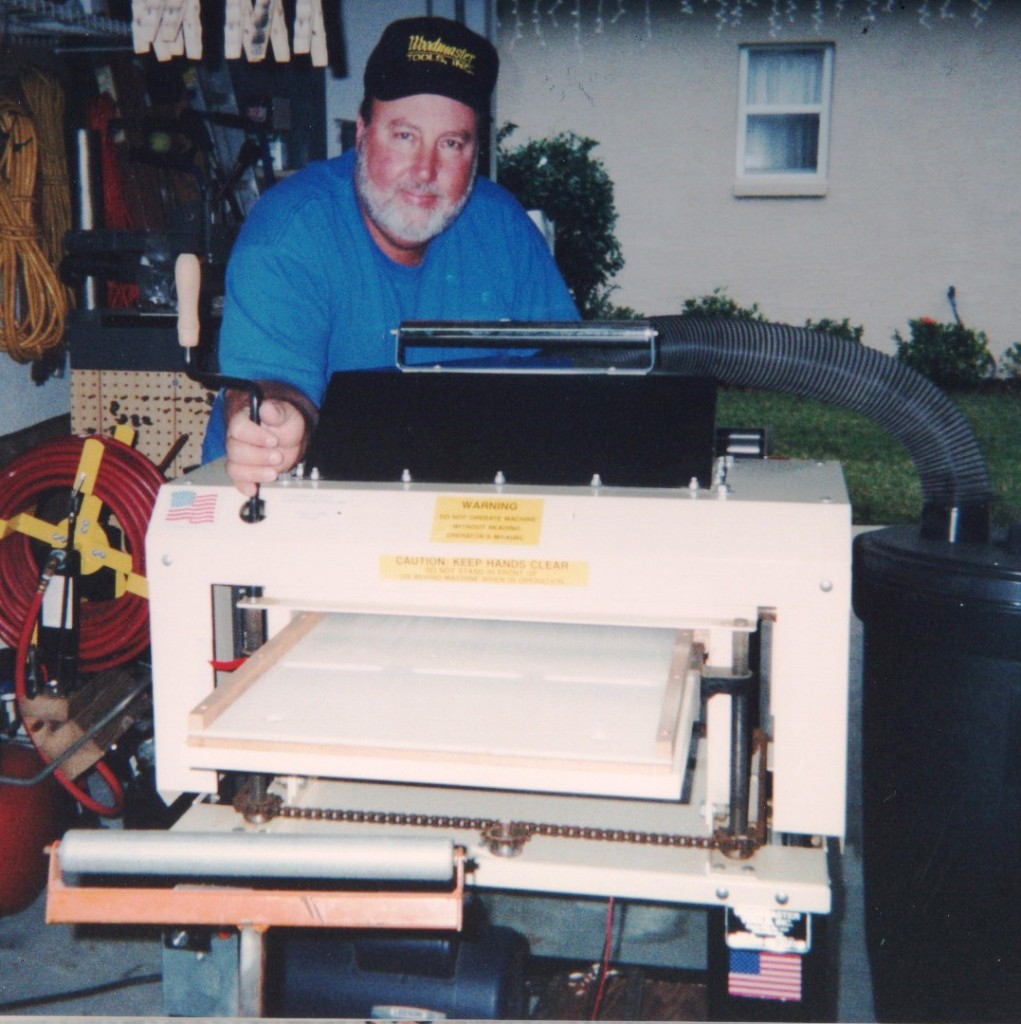 Here's woodworker and all-around do-it-yourselfer, Eddy Johnson, in his workshop with his Woodmaster Molder/Planer. Thanks, Eddy, for sharing your story with our readers!