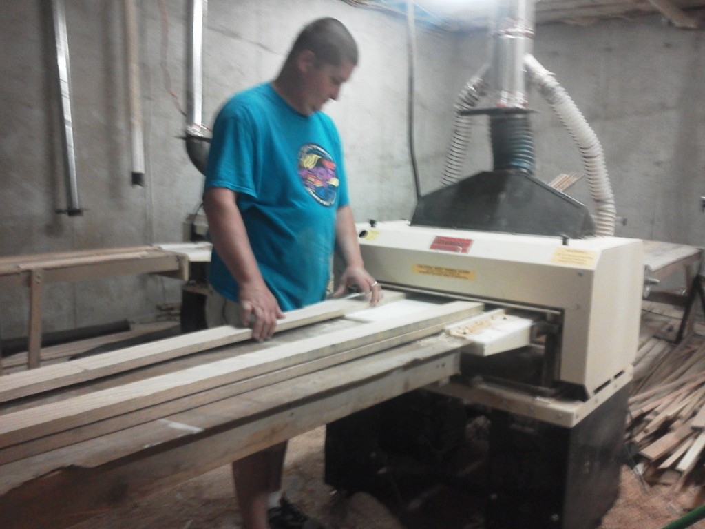 Woodworker, Scott Saylors, turns out miles of molding in his home workshop thanks to his Woodmaster 725 and 712 Molder/Planers.