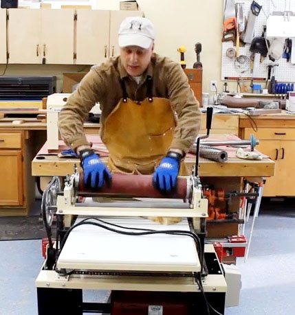 Swapping from planer to drum sander takes about ten minutes and is well worth the time when considering the quality, efficiency and space savings delivered by the integrated drum sander.