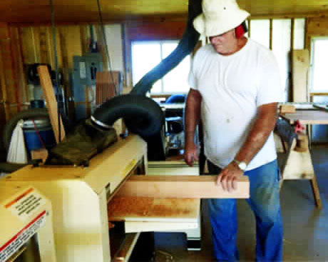 Looking for Larry? Look in his wood shop. That's where you'll usually find him, working with his Woodmasters.