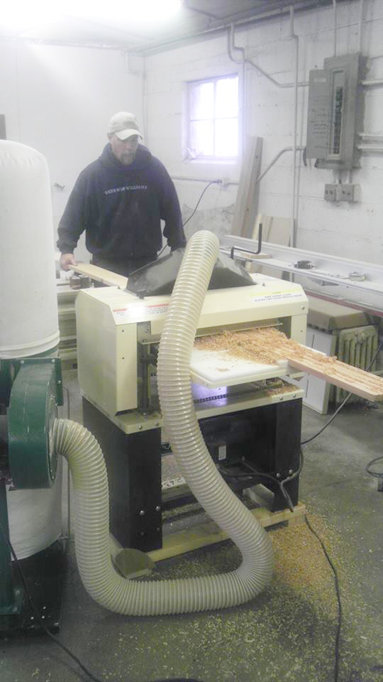 """Rob at work with his 18"""" Woodmaster 718"""