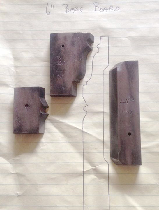 You won't find a baseboard pattern like this anywhere except in Rob Schramm's shop. That's because he combines various profiles to create unique patterns, then has Woodmaster turn his drawings into custom knives.