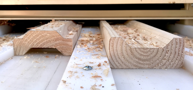 The Woodmaster shapes wood profiled quickly and easily
