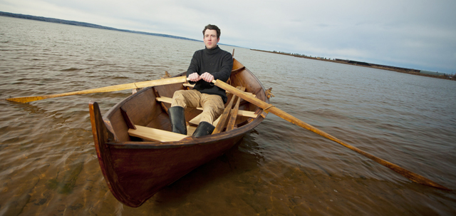 """Josh says, """"Nothing is as satisfying as building a boat then taking it out on the water."""""""