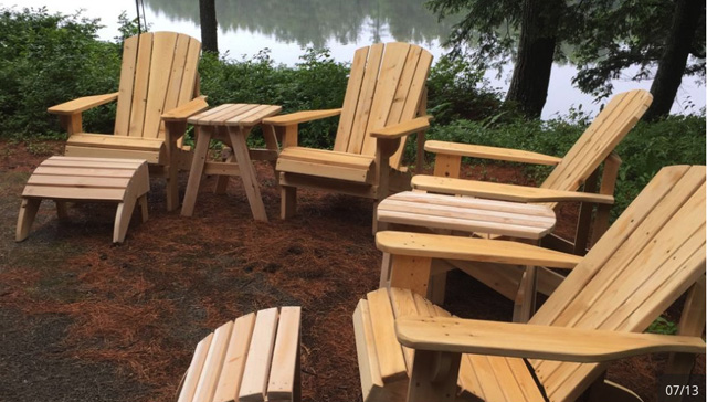 After a 30 year teaching career, Rob wanted to start a custom cabinetmaking business. Fate had other plans. Today he's in the Adirondack-style furniture business...and business is going great guns