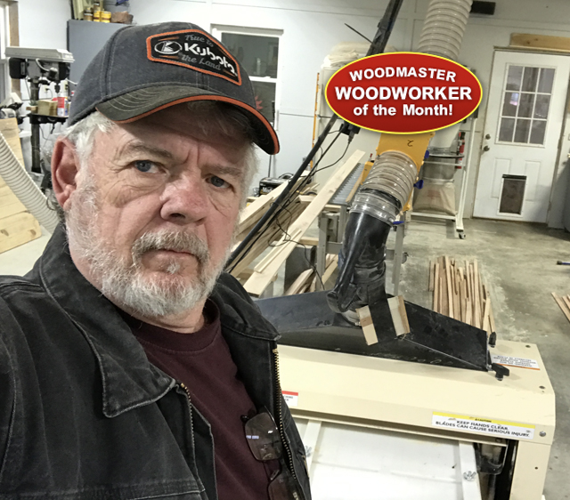 "Darrell worked for decades in heavy, industrial/commercial construction. When it came time to rebuild his home, he chose Woodmaster for the finish carpentry work. ""It does 4 functions - planer, gang rip saw, drum sander, and molder. And every function is excellent."""