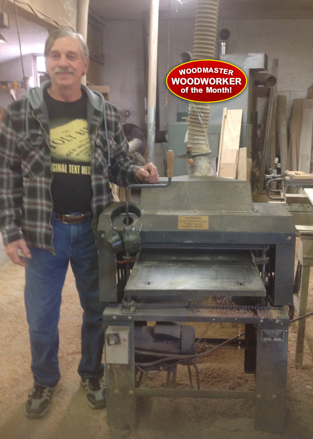 Harvey and his 23  year old Woodmaster Planer